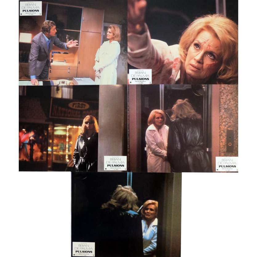 DRESSED TO KILL Lobby Cards x5 9x12 in. - 1980 - Brian de Palma, Michael Caine