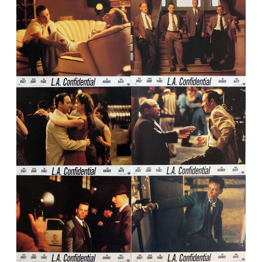 L.A. CONFIDENTIAL Photos de film x6 21x30 cm - 1997 - Kevin Spacey, Curtis Hanson
