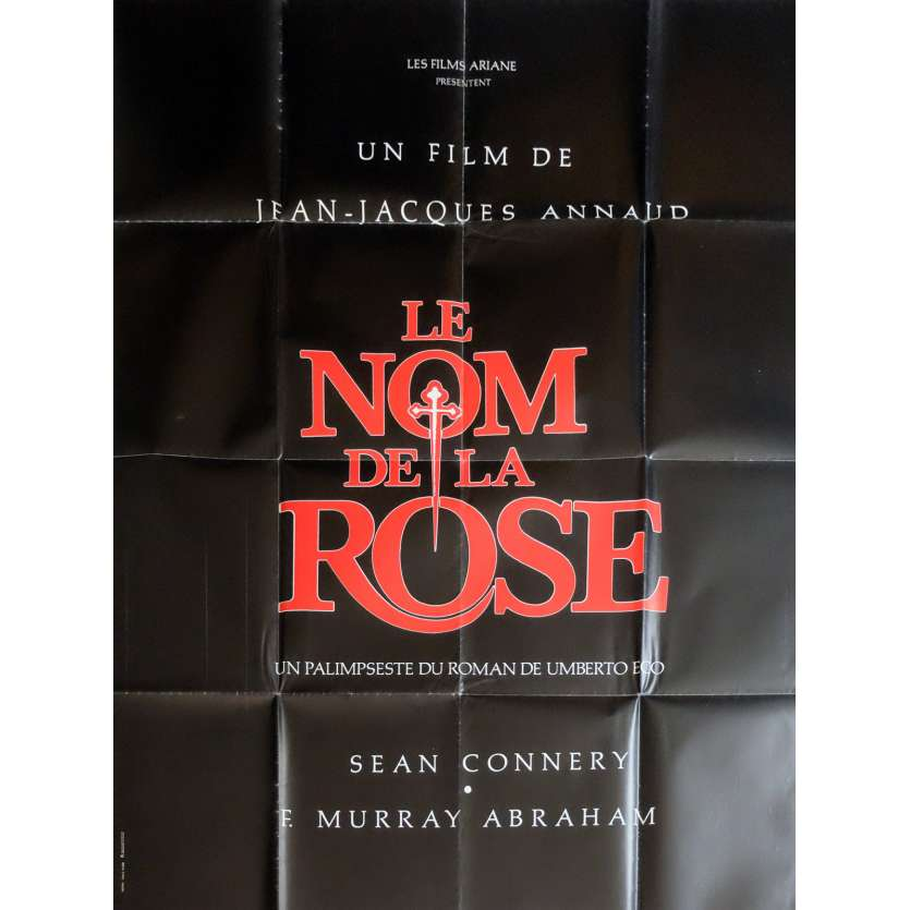 NAME OF THE ROSE Movie Poster Adv. 47x63 in. - 1987 - Jean-Jacques Annaud, Sean Connery