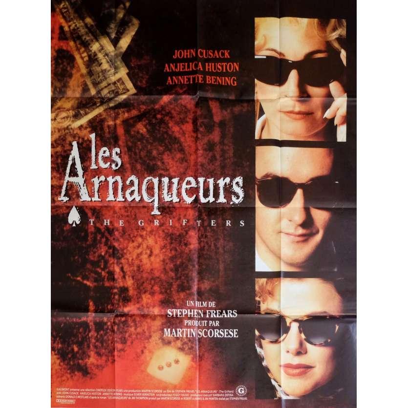 LES ARNAQUEURS Affiche de film 120x160 cm - 1990 - Anjelica Juston, Stephen Frears