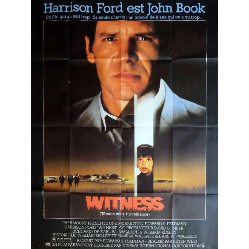 WITNESS Affiche de film 120x160 cm - 1985 - Harrison Ford, Peter Weir