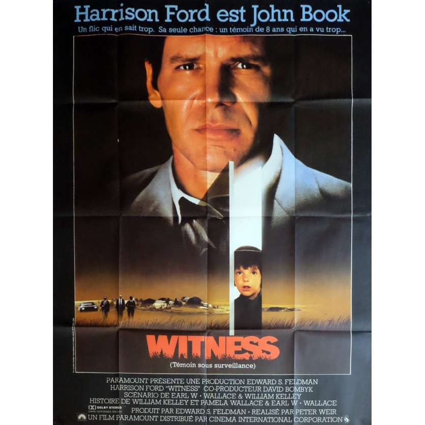 WITNESS Movie Poster 47x63 in. - 1985 - Peter Weir, Harrison Ford