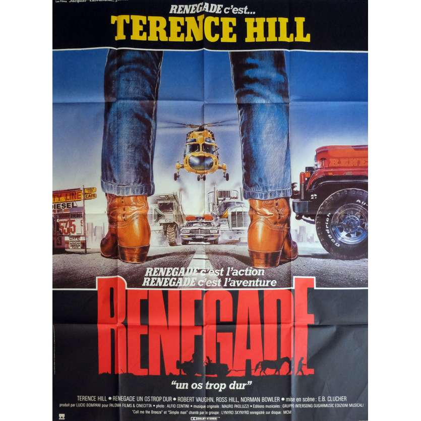 RENEGADE Movie Poster 47x63 in. - 1987 - Enzo Barboni, Terence Hill