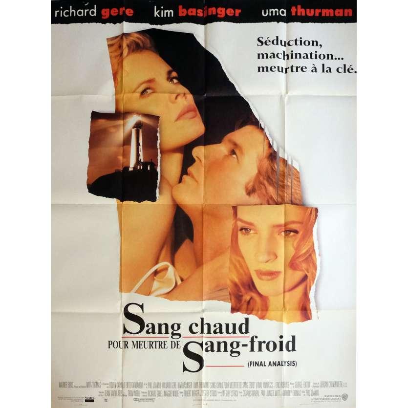 SANG CHAUD POUR MEURTRE DE SANG FROID Affiche de film 120x160 cm - 1992 - Uma Thurman, Richard Gere