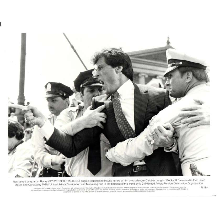 ROCKY 3 Photo de presse N12 20x25 cm - 1982 - Mr. T, Sylvester Stallone