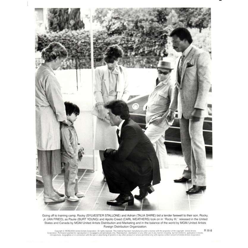 ROCKY 3 Movie Still N07 8x10 in. - 1982 - Sylvester Stallone, Mr. T