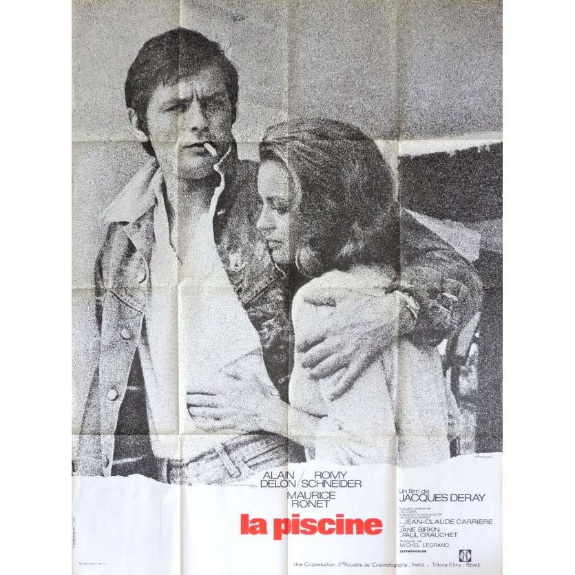 SWIMMING POOL Movie Poster 47x63 in. - 1974 - Jacques Deray, Alain Delon, Romy Schneider