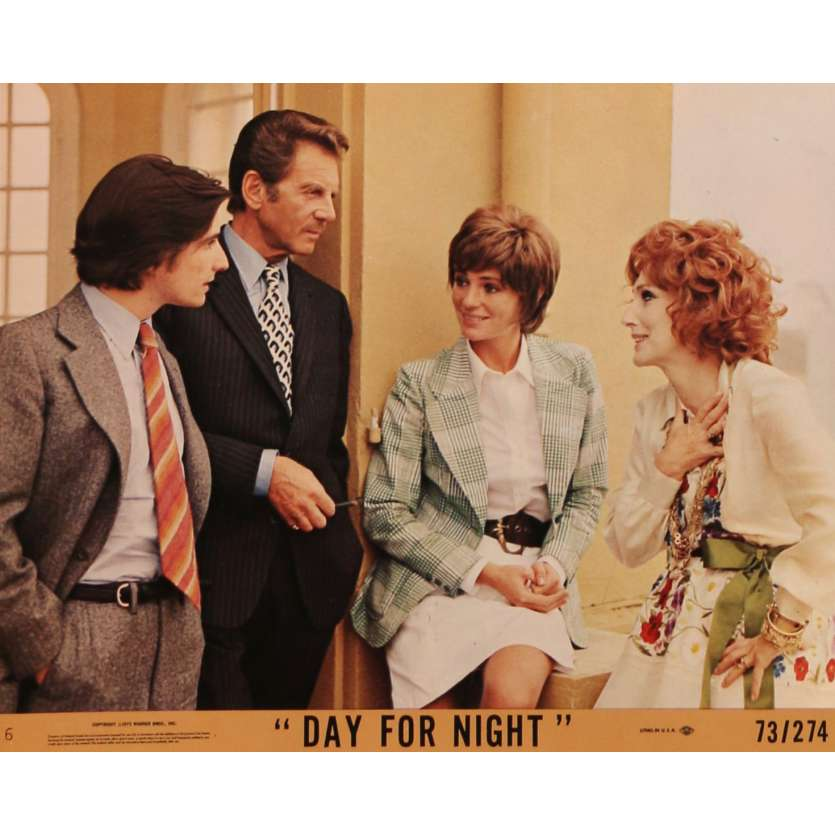 DAY FOR NIGHT Lobby Card N01 8x10 in. - 1974 - François Truffaut, Jacqueline Bisset