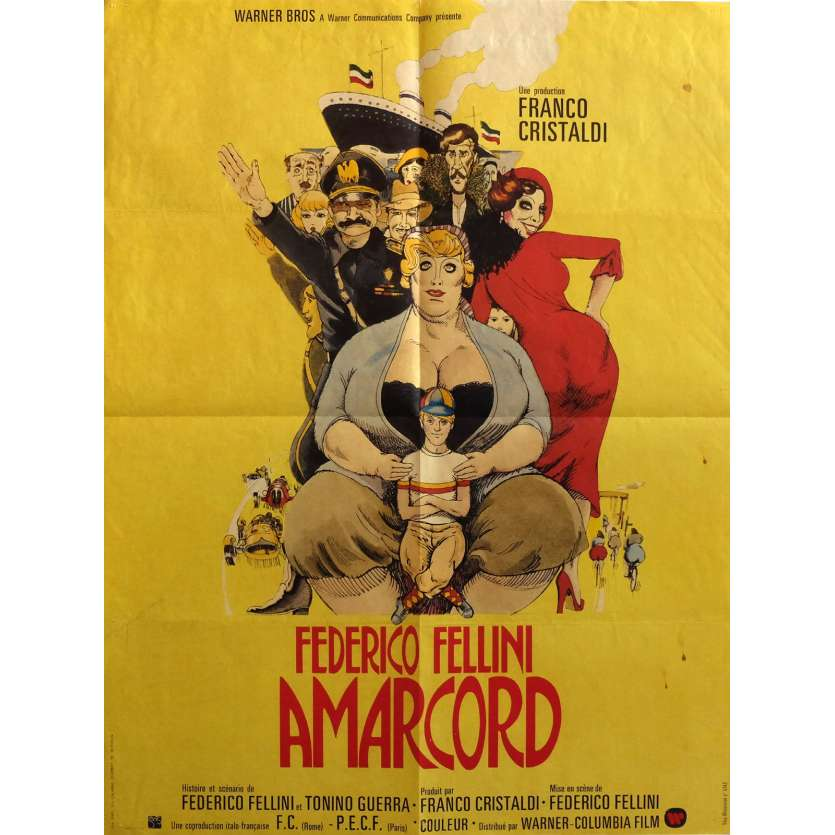 AMARCORD Movie Poster 23x32 in. - 1974 - Federico Fellini, Magali Noel