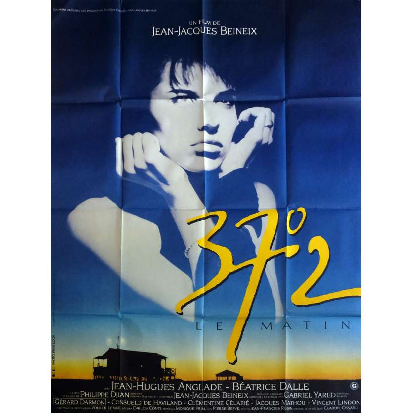 BETTY BLUE Movie Poster 47x63 in. - 1986 - Jean-Jacques Beineix, Béatrice Dalle