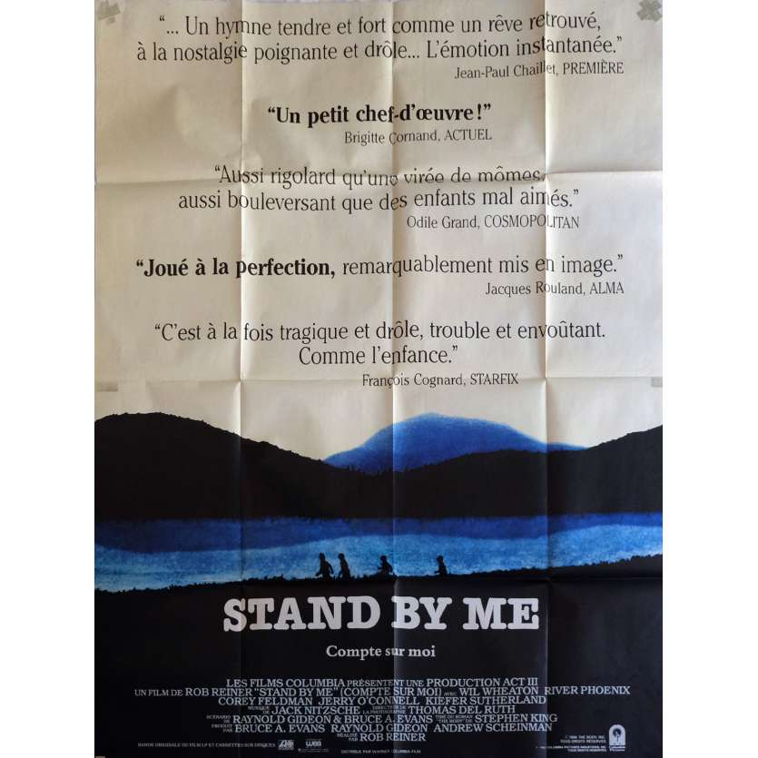 STAND BY ME Affiche de film 120x160 cm - 1986 - River Phoenix, Rob Reiner