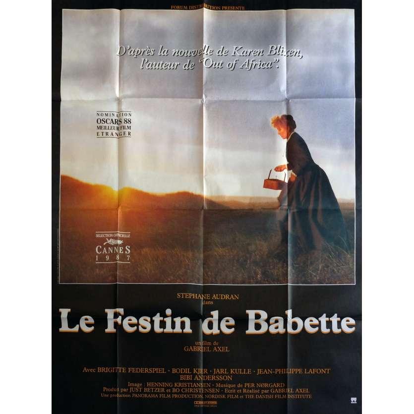 LE FESTIN DE BABETTE Affiche de film 120x160 cm - 1989 - Stéphane Audran, Gabriel Axel