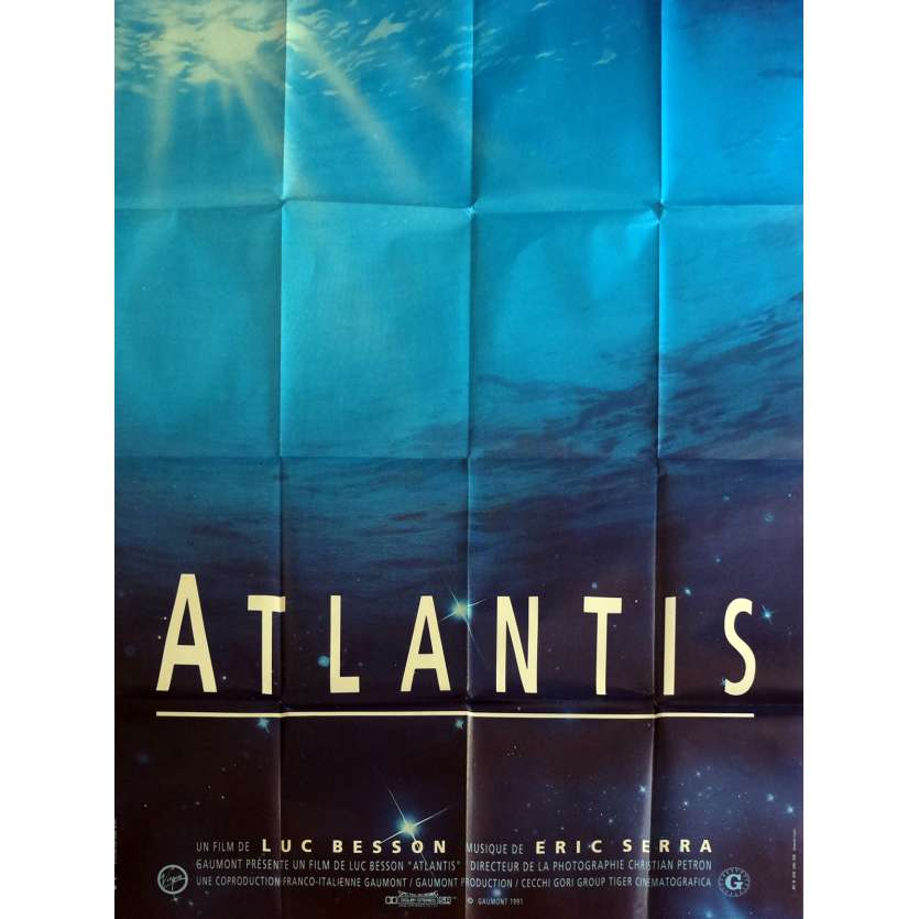 ATLANTIS Movie Poster 47x63 in. - 1991 - Luc Besson, Luc Besson