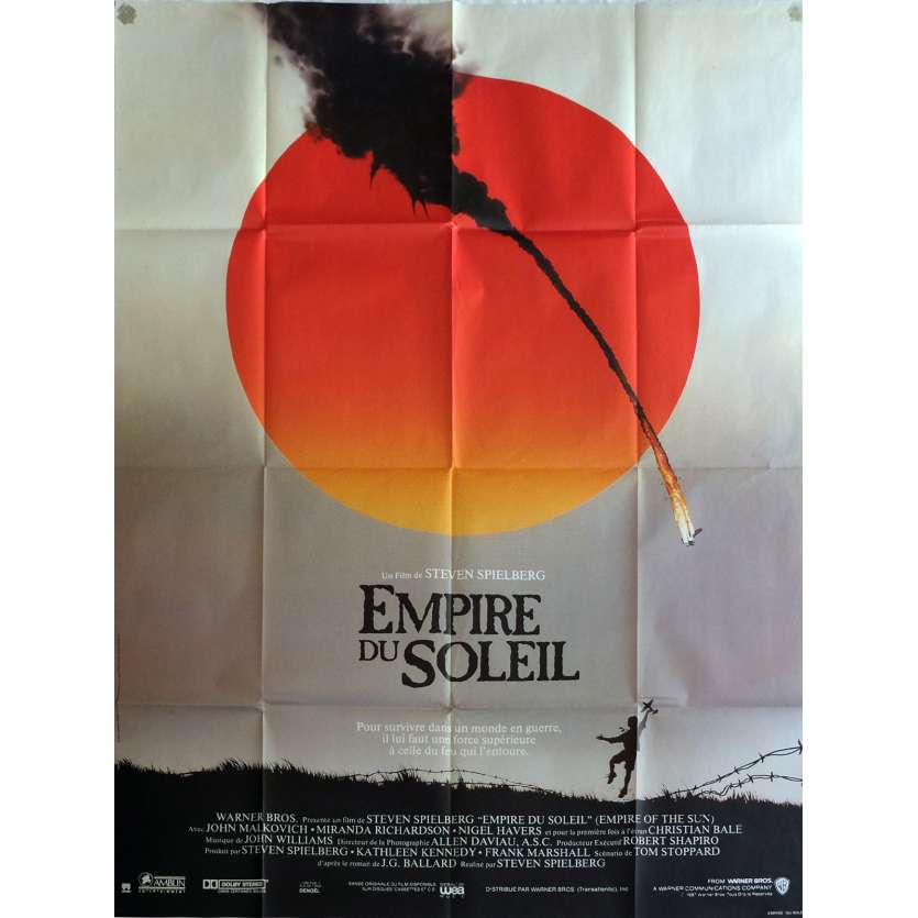 EMPIRE OF THE SUN Movie Poster 23x63 in. - 1987 - Steven Spielberg, Christian Bale