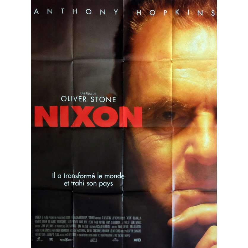 NIXON Affiche de film 120x160 cm - 1995 - Anthony Hopkins, Oliver Stone