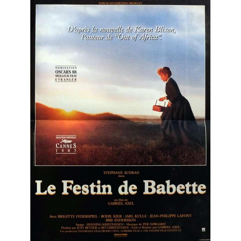 LE FESTIN DE BABETTE Affiche de film 40x60 cm - 1989 - Stéphane Audran, Gabriel Axel