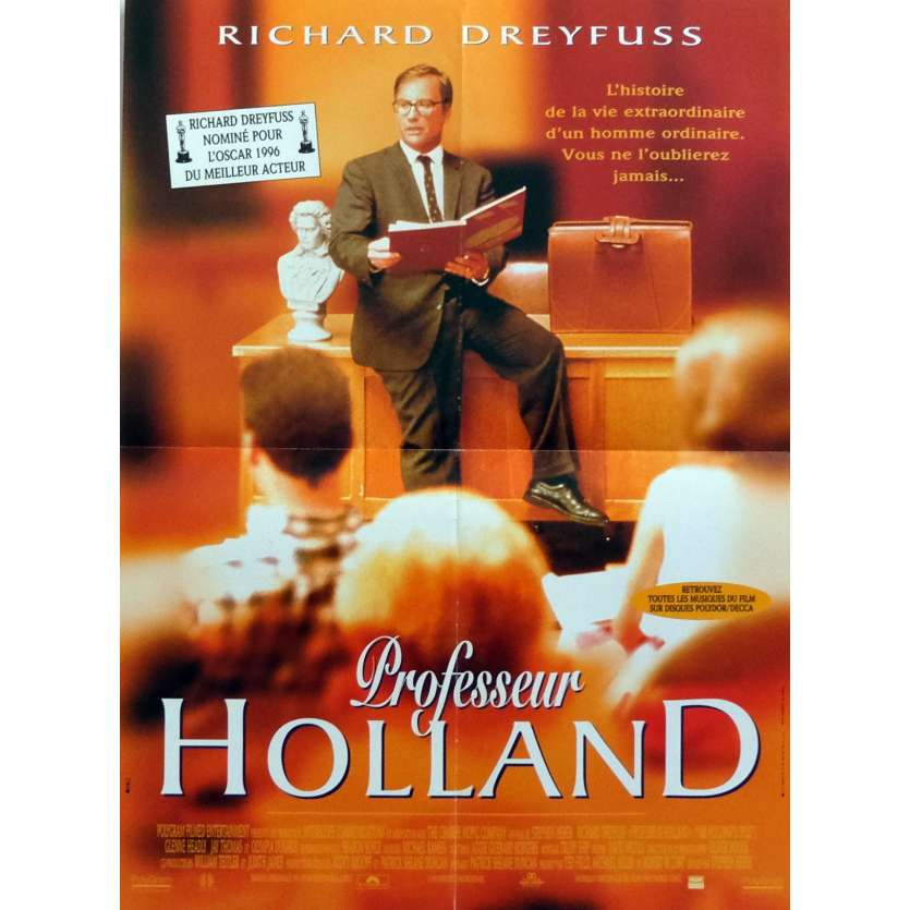 PROFESSOR HOLLAND Affiche de film 40x60 cm - 1995 - Richard Dreyfuss, Stephen Herek