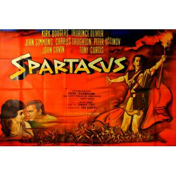 SPARTACUS French Movie Poster 94x63 - 1962 - Stanley Kubrick, Kirk Douglas