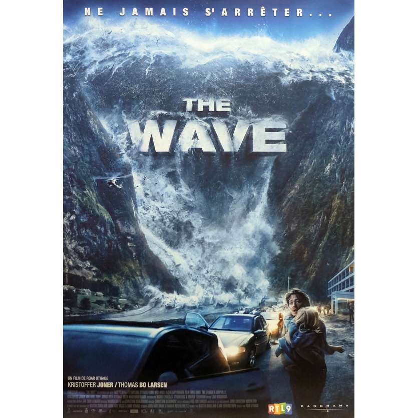 THE WAVE Movie Poster 15x21 in. - 2016 - Roar Uthaug, Kristoffer Joner