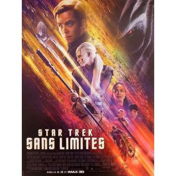 STAR TREK BEYOND Movie Poster 15x21 in. - 2016 - Justin Lin, Anton Yelchin
