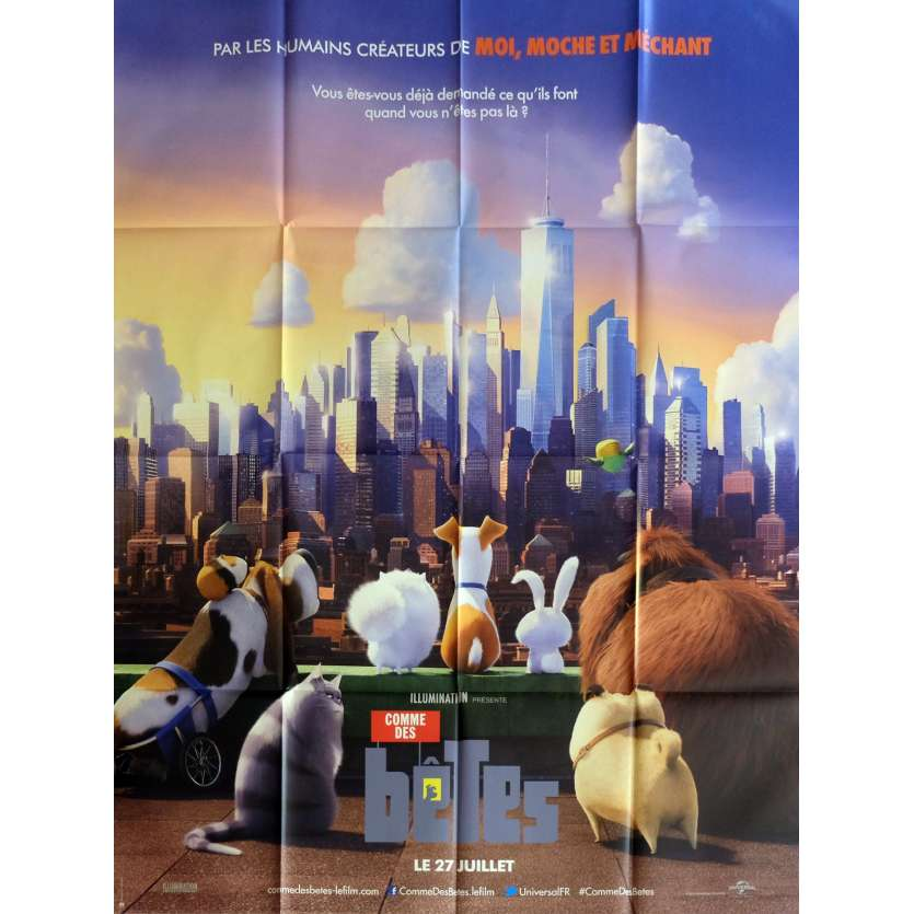 THE SECRET LIFE OF PETS Movie Poster 47x63 in. - 2016 - Yarrow Cheney, Kevin Hart