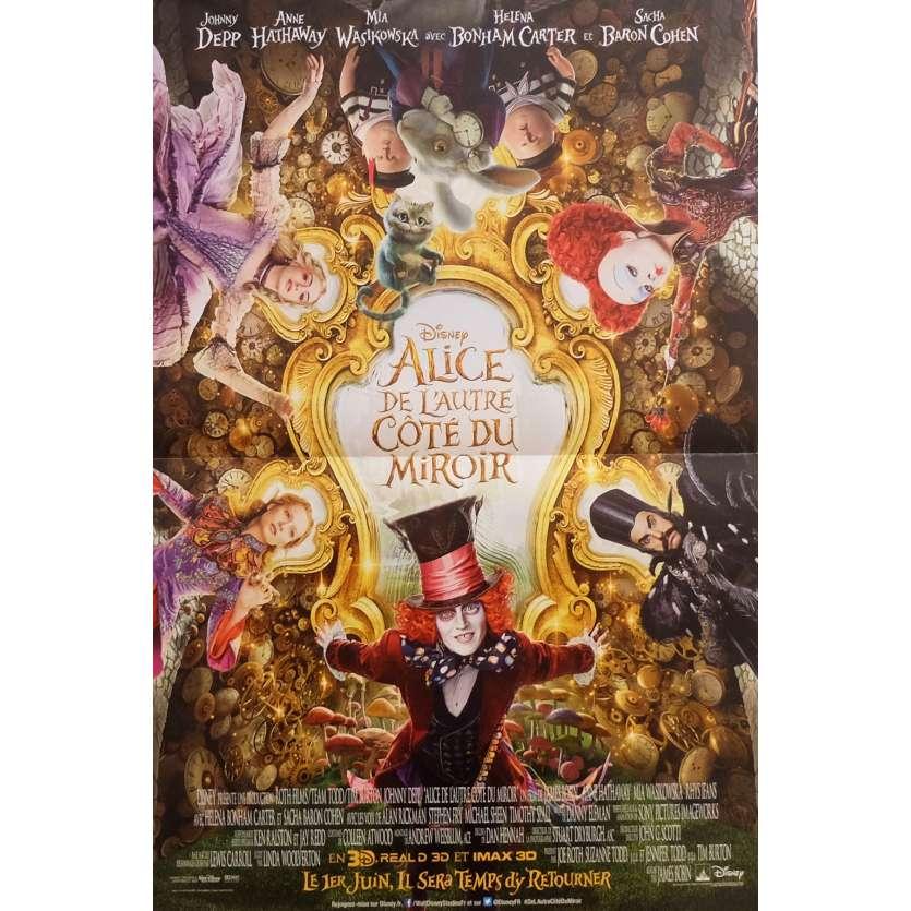 ALICE DE L'AUTRE COTE DU MIROIR Affiche de film 40x60 cm - 2016 - Johnny Depp, James Bobin