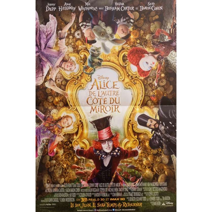 ALICE THROUGH THE LOOKING GLASS Movie Poster 15x21 in. - 2016 - James Bobin, Johnny Depp
