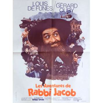 RABBI JACOB French Movie Poster 23x32 - 1973 - Gérard Oury, Louis de Funes