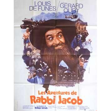 LES AVENTURES DE RABBI JACOB Affiche de film 120x160 cm - 1974 - Louis de Funès, Gérard Oury