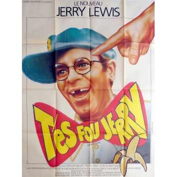 T'ES FOU JERRY Affiche de film 120x160 cm - 1983 - Sammy Davis Jr, Jerry Lewis