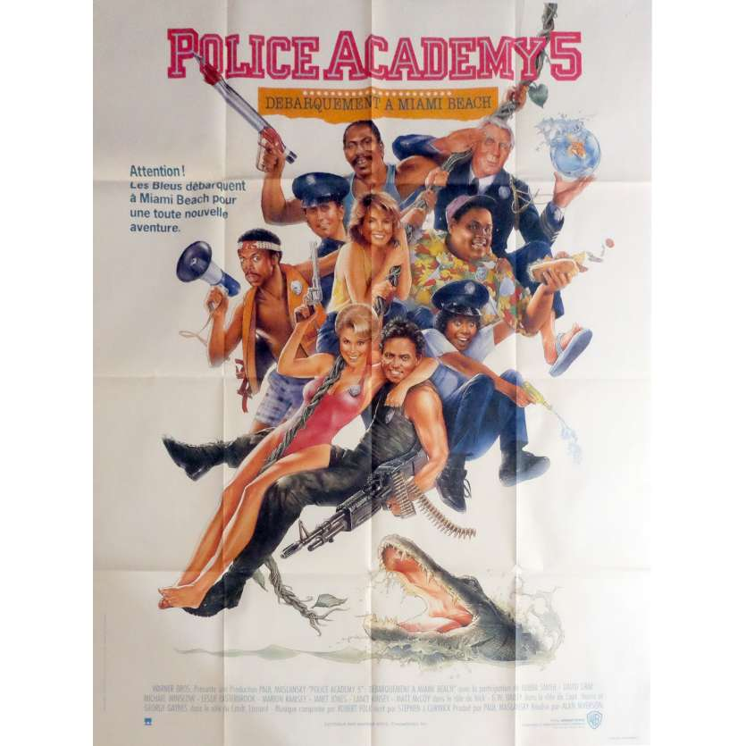 POLICE ACADEMY V Movie Poster 47x63 in. - 1988 - Alan Myerson, Bubba Smith