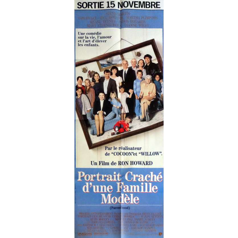 PORTRAIT CRACHE D'UNE FAMILLE MODELE Affiche de film 60x160 cm - 1989 - Steve Martin, Ron Howard