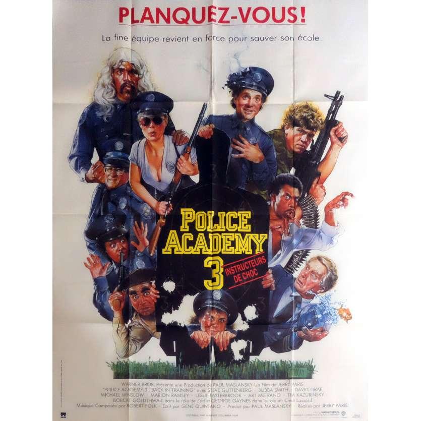 POLICE ACADEMY 3 Affiche de film 120x160 cm - 1986 - Steve Guttenberg, Jerry Paris