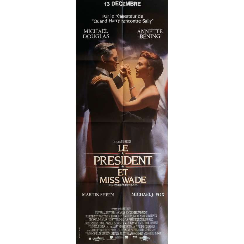 THE AMERICAN PRESIDENT Movie Poster 23x63 in. - 1995 - Rob Reiner, Michael Douglas