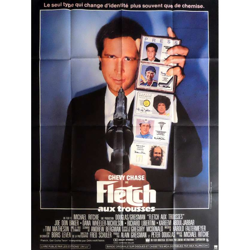 FLETCH Affiche de film 120x160 cm - 1985 - Chevy Chase, Michael Ritchie