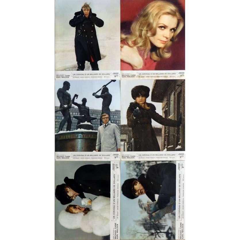 UN CERVEAU D'UN MILLIARD DE DOLLARS Photos de film Jeu B, x6 40x60 cm - 1967 - Michael Caine, Ken Russel