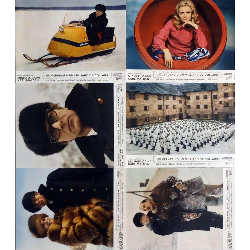 UN CERVEAU D'UN MILLIARD DE DOLLARS Photos de film Jeu A, x6 40x60 cm - 1967 - Michael Caine, Ken Russel