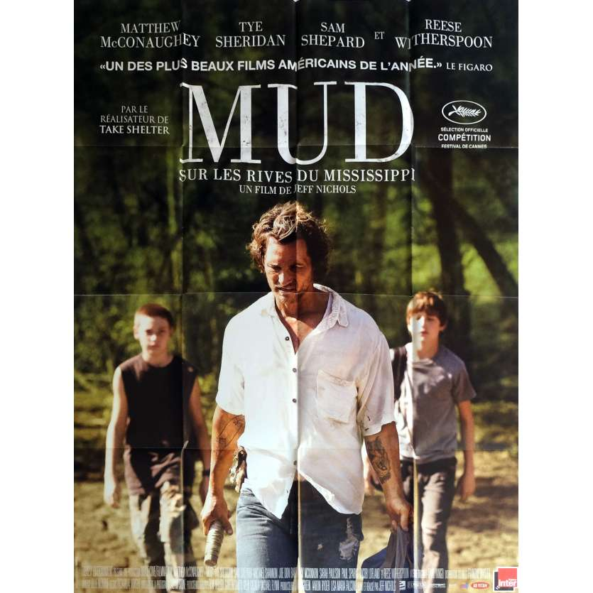 MUD Movie Poster 47x63 in. - 2012 - Jeff Nichols, Matthew McConauguey