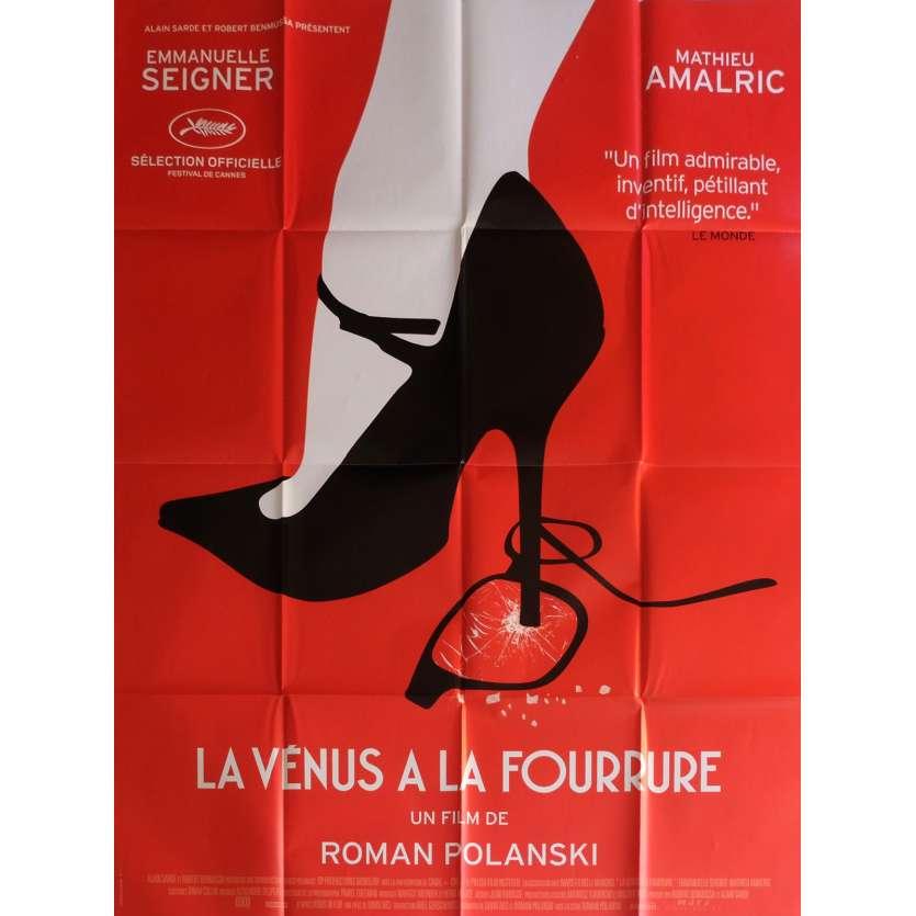 LA VENUS A LA FOURRURE Affiche de film 120x160 cm - 2013 - Mathieu Amalric, Roman Polanski