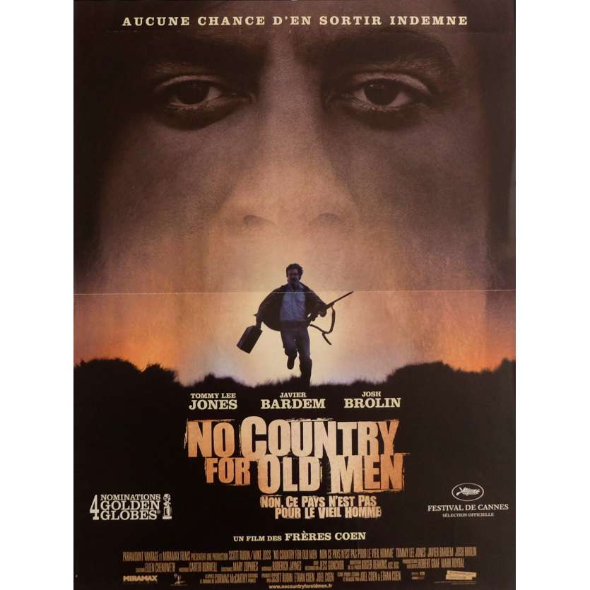 NO COUNTRY FOR OLD MEN Affiche de film 40x60 cm - 2007 - Javier Bardem, Ethan Coen