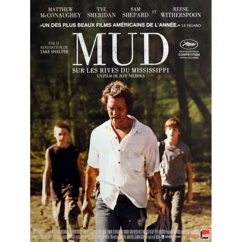 MUD Movie Poster 15x21 in. - 2012 - Jeff Nichols, Matthew McConauguey