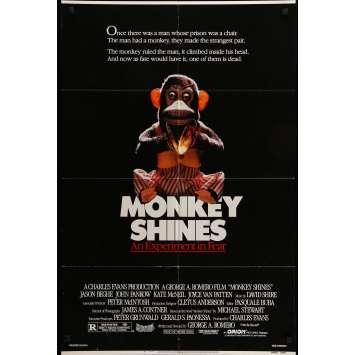 MONKEY SHINES Movie Poster 29x40 in. - 1988 - George A. Romero, John Pankow