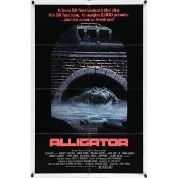 ALLIGATOR Movie Poster 29x40 in. - 1980 - Lewis Teague, Robert Forster