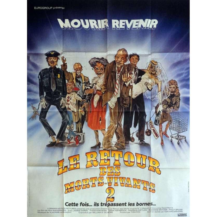LE RETOUR DES MORTS-VIVANTS 2 Affiche de film 120x160 cm - 1988 - James Karen, Ken Wiederhorn