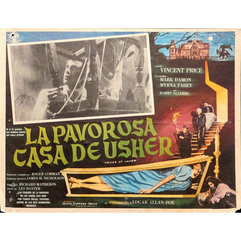 HOUSE OF USHER Lobby Card 13x16,5 in. - 1960 - Roger Corman, Vincent Price