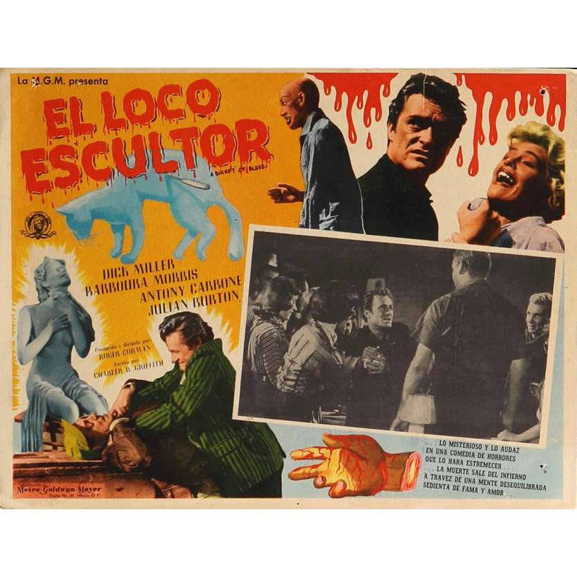 UN BAQUET DE SANG Photo de film 32x42 cm - 1959 - Dick Miller, Roger Corman