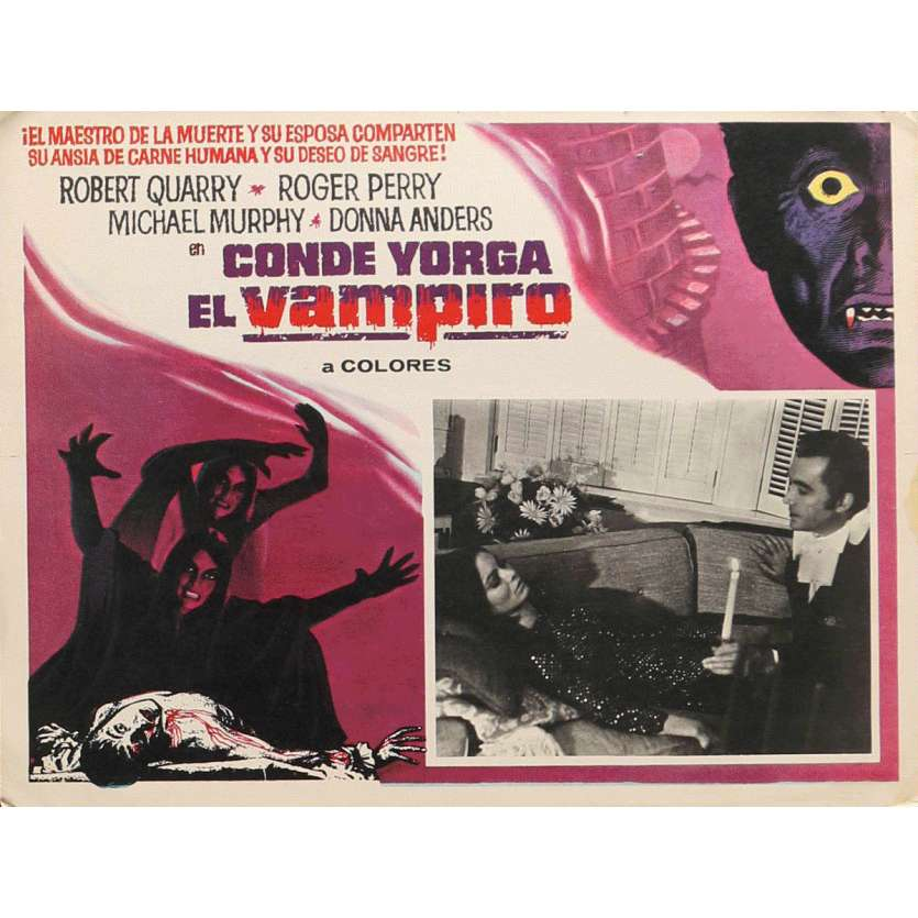 COUNT YORGA, VAMPIRE Lobby Card 13x16,5 in. - 1970 - Bob Keljan, Robert Quarry
