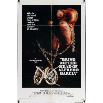 BRING ME THE HEAD OF ALFREDO GARCIA Movie Poster 29x41 in. - 1974 - Sam Peckinpah, Warren Oates