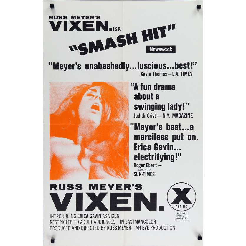 VIXEN Movie Poster '68 Russ Meyer, Erica Gavin