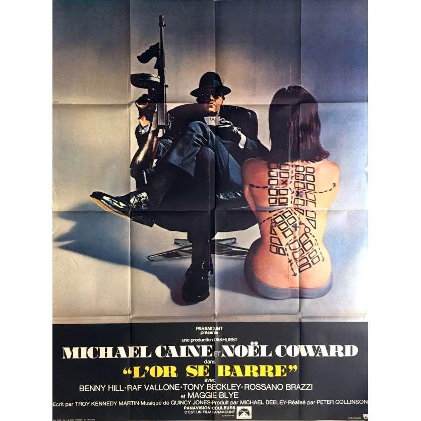 L'OR SE BARRE Affiche de film 120x160 cm - 1970's - Michael Caine, Peter Collinson